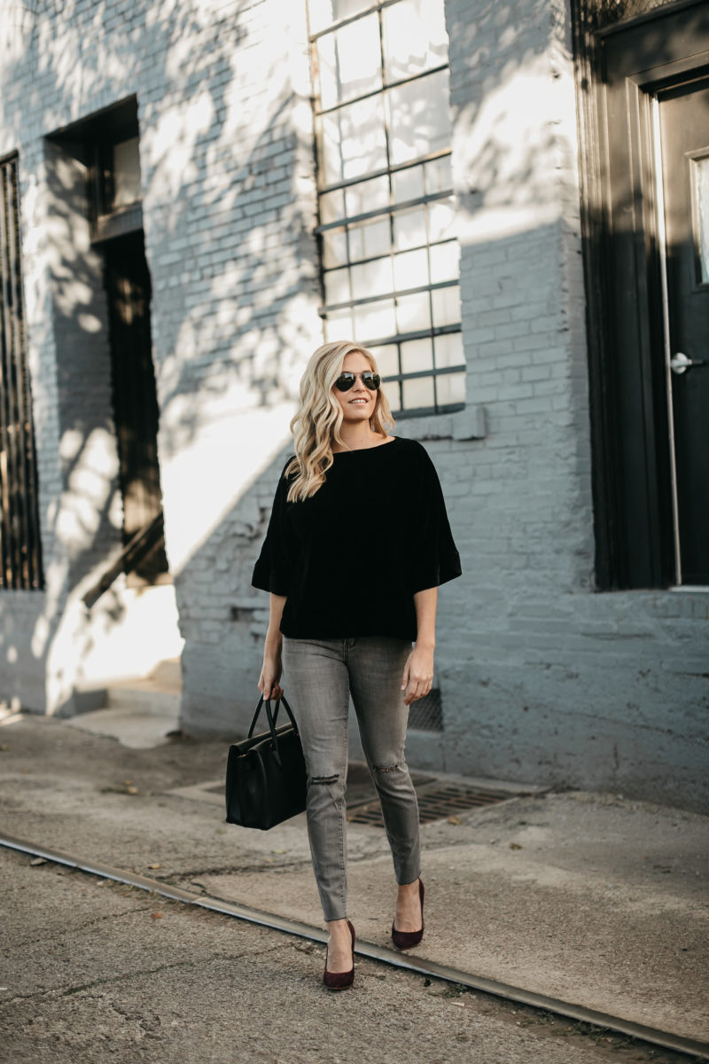 fall, grey jean, skinny jeans