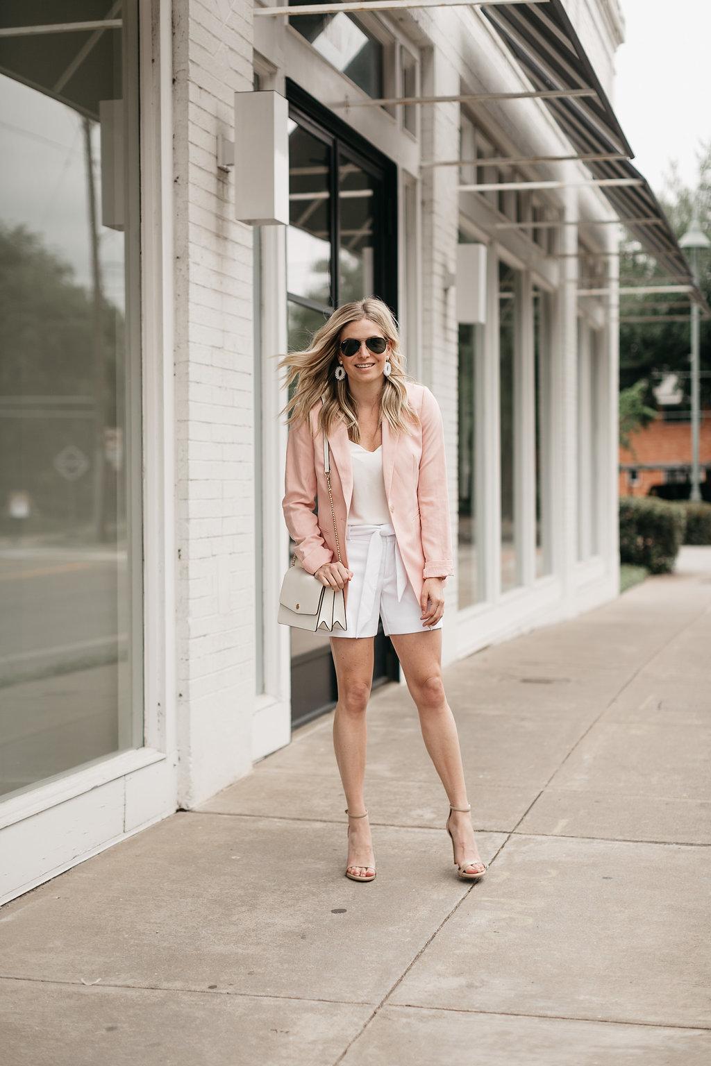 SOFTENED BLAZERN - Amanda Uprichard - Robinson Convertible Leather Shoulder Bag - MALINDA DROP EARRINGS - One Small Blonde