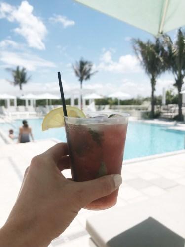 poolside views at Hutchinson Resort and Spa