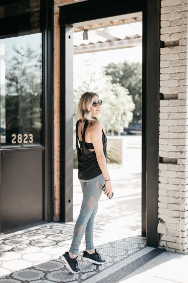 Block High Waist Mesh Inset Leggings ALO / Madison Tank ZELLA - NSALE