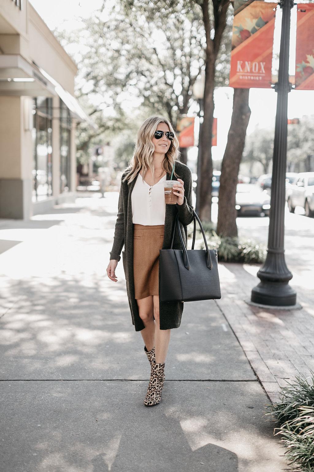 caramel skirt