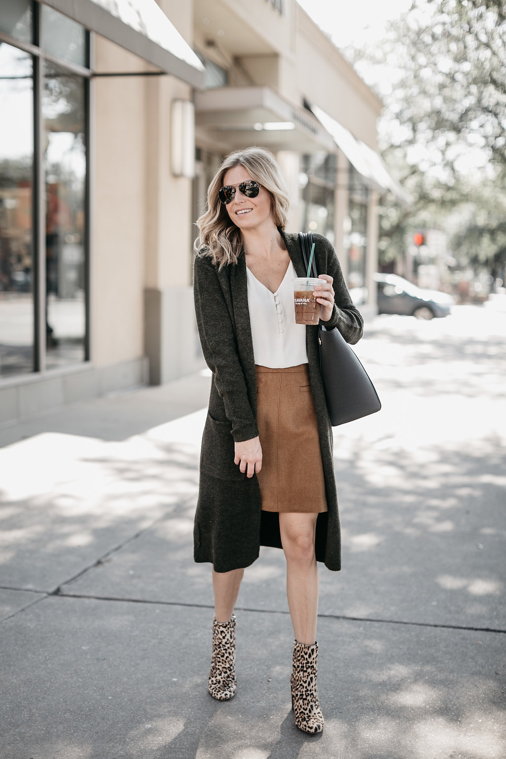 How To Style Leopard Booties For Work