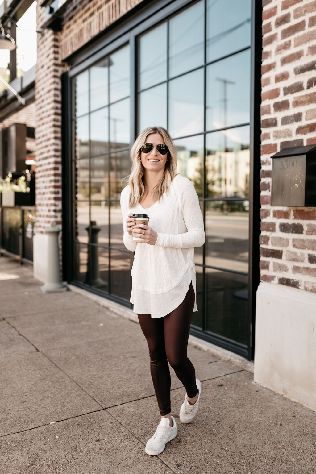 We the Free by Free People Catalina V-Neck Thermal Top FREE PEOPLE