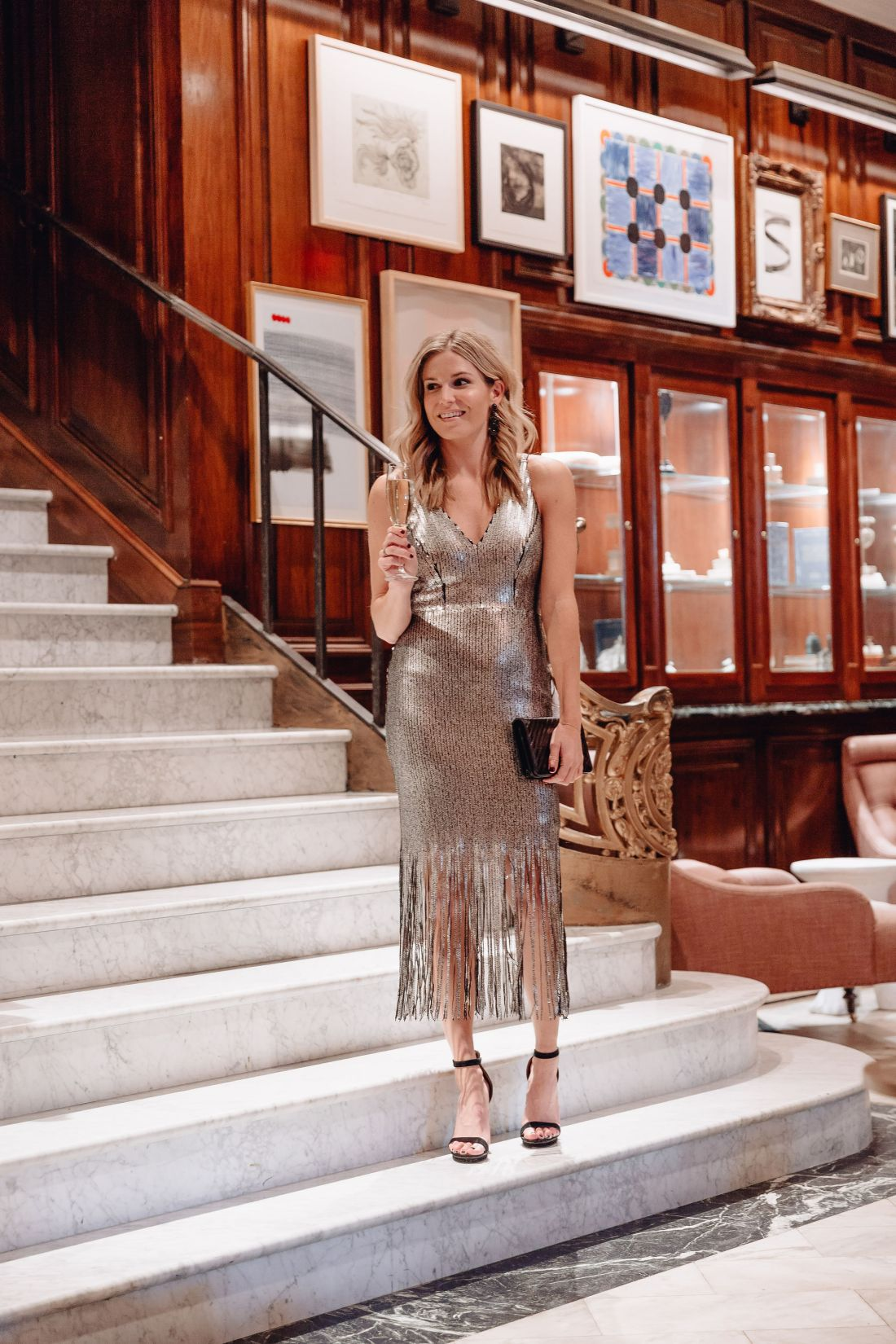 Frankie Plunge Midi Dress DRESS THE POPULATION