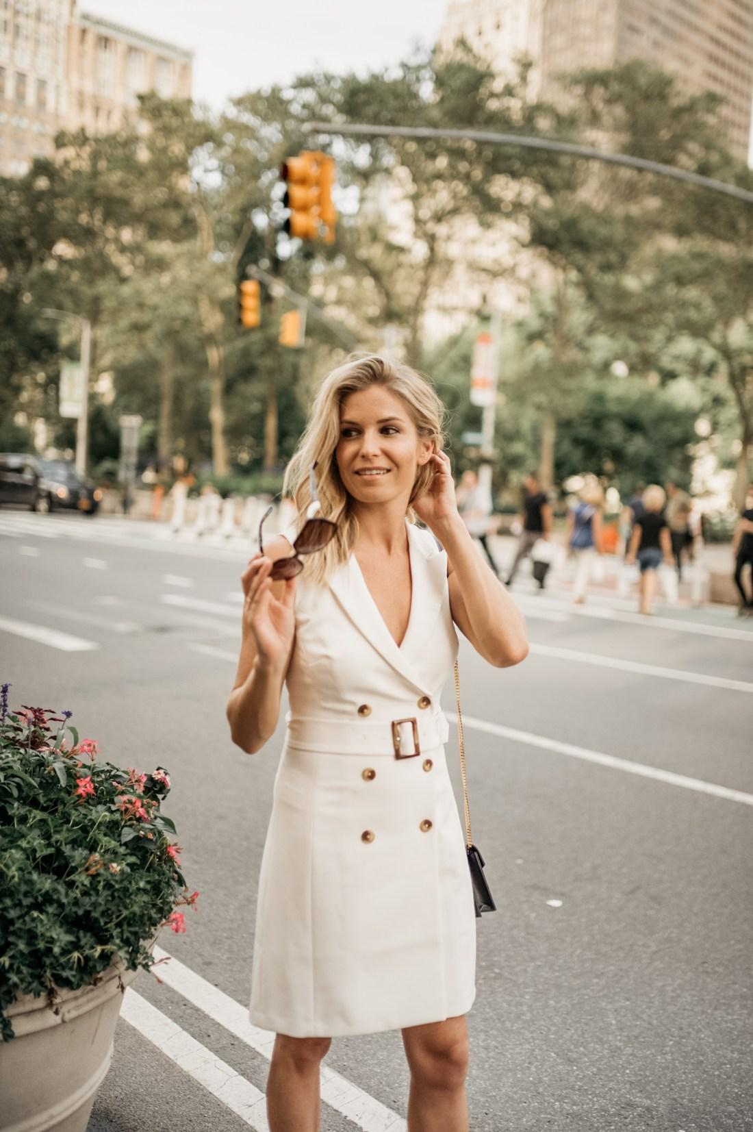 brooke burnett in a suit dress - one small blonde