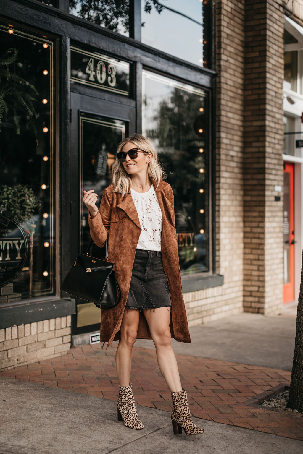suede coat for fall