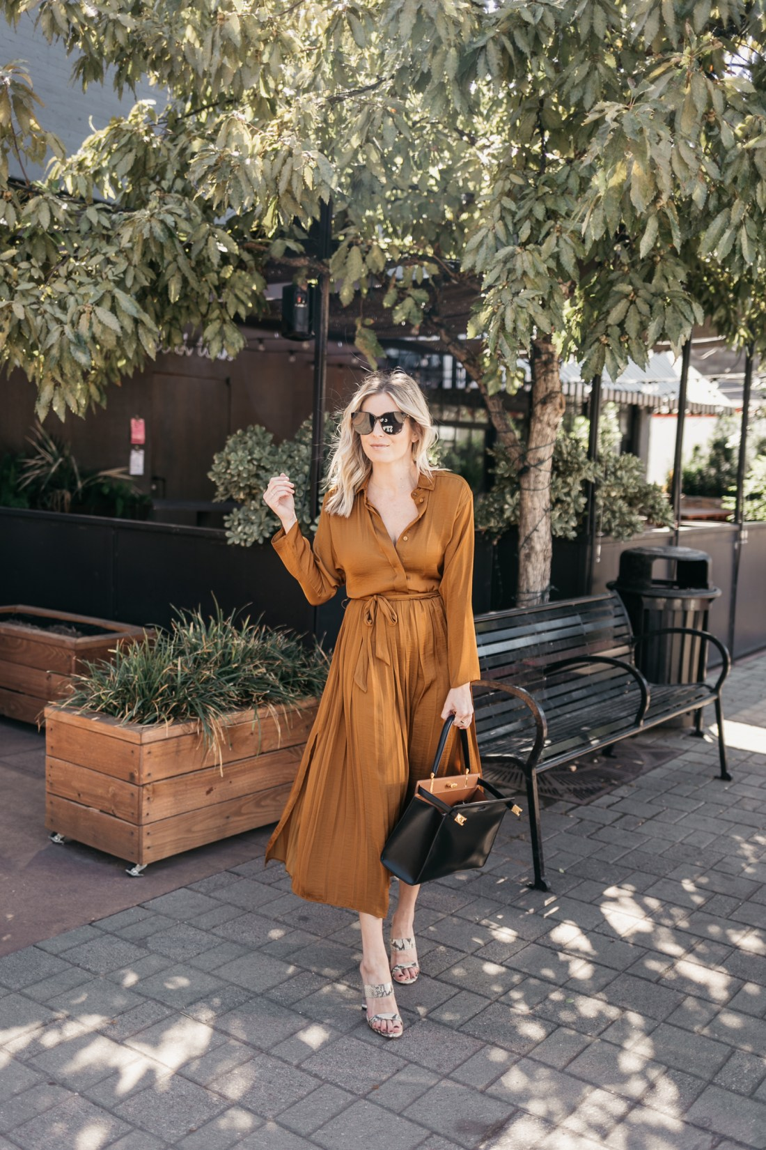 COPPER DRESS FOR WORK