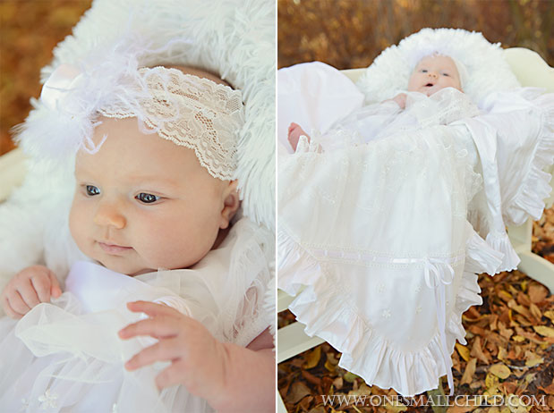 Tallie Christening Dress & Headband with Natalia Blanket | One Small Child