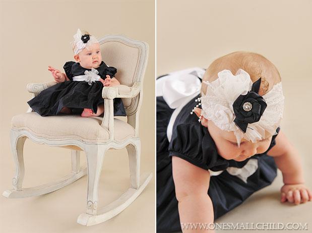 Kira Silk Baby Holiday Dress & Headband | One Small Child