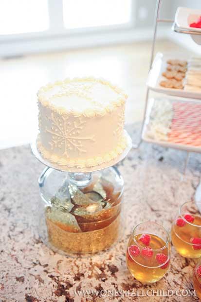 Snowflake Cross Christening Cake | One Small Child