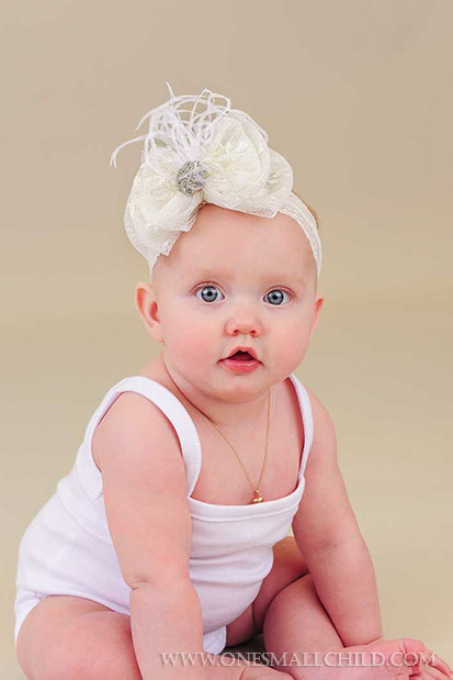 Lace Bow Baby Headbands   One Small Child