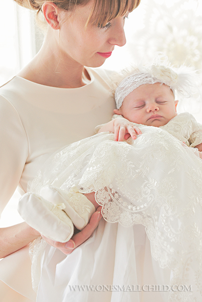 Memory Gown & Accessories | Ivory Lace for Christenings, Baptisms, Blessings at One Small Child