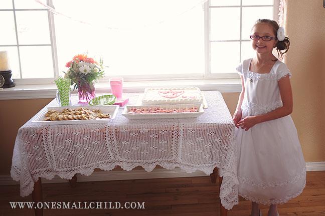 Meg's LDS Baptism | Buffet Table