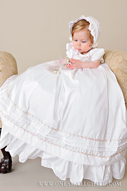 Jessa Collection | Christening Gowns for Girls from www.OneSmallChild.com