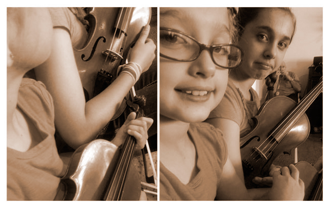 Violins with Grandma | Family
