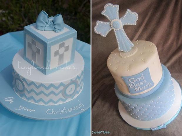 Boys Christening Cakes