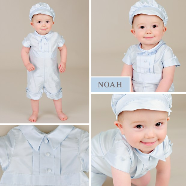 Noah: Something Blue Baby Ring Bearer Outfits