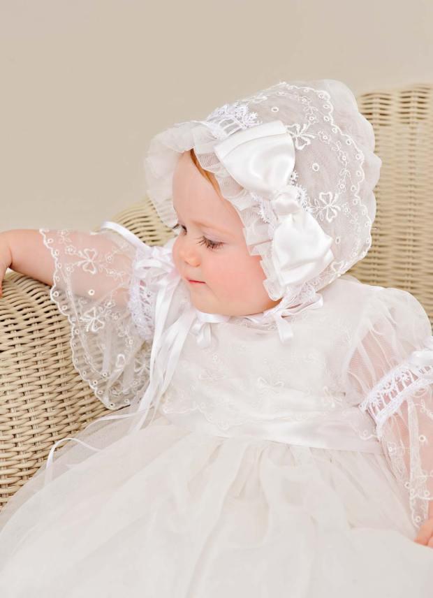 Natalia Silk Christening Gown