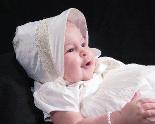 Virginia Embroidered Silk Christening Gown