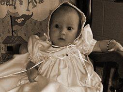 Mandi Satin Baptism Dress