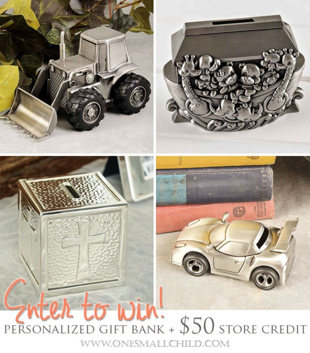Personalized Gift Banks | Giveaways at One Small Child