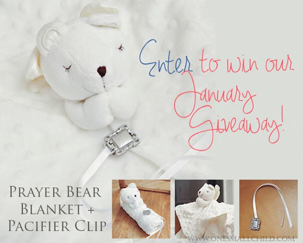 bear blanket pacifier clip giveaway