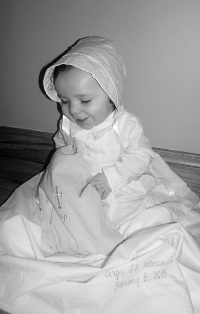 Customer Highlight: Little Sergio in Justin Baptism Gown from OneSmallChild.com