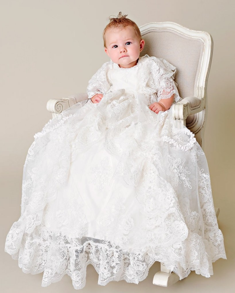 Extra Long Christening Gowns - One Small Child