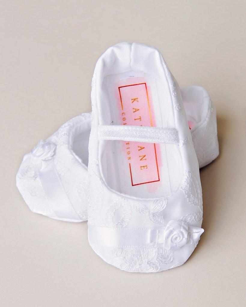 Sarah Christening Slippers