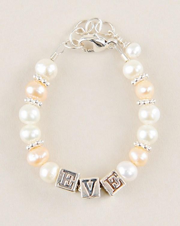 Rose Pearl Name Bracelet