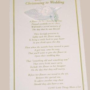 Boys Christening to Wedding Boutonniere