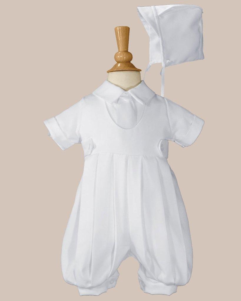 Boys White Gabardine Christening Baptism Knicker Set