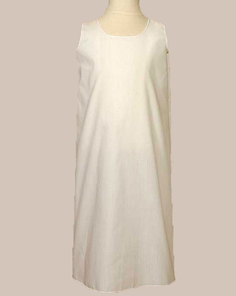 """Girls 23"""" White Poly Cotton Easter Christening Baptism Slip Liner"""