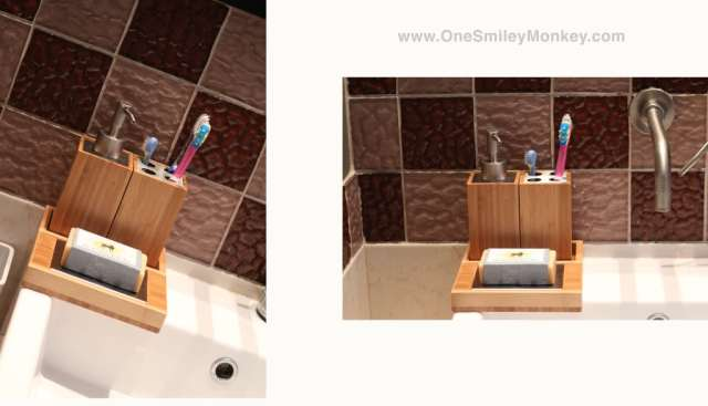Washroom bamboo accessories