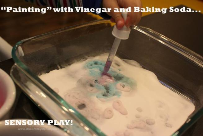 Painting with Vinegar and Baking Soda