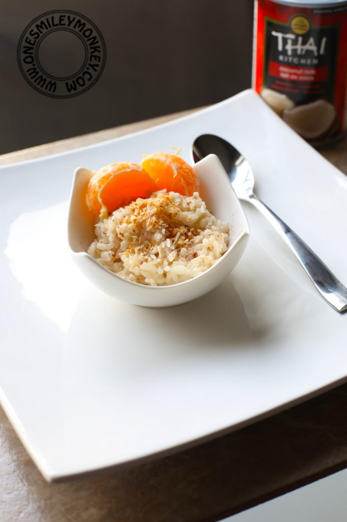 rice pudding with mandarin orange