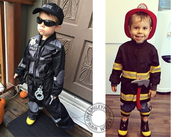 policeman and firefighter costumes