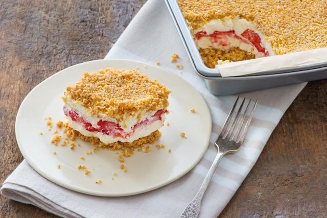 Berry Crumble Ice Box Cake Recipe