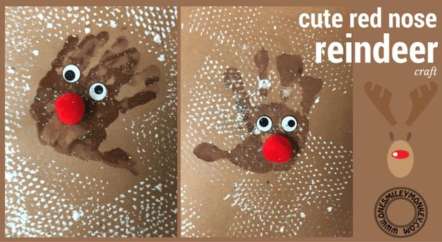 cute red nose reindeer craft DIY