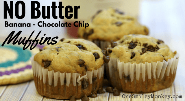 No butter, banana chocolate chip muffins recipe
