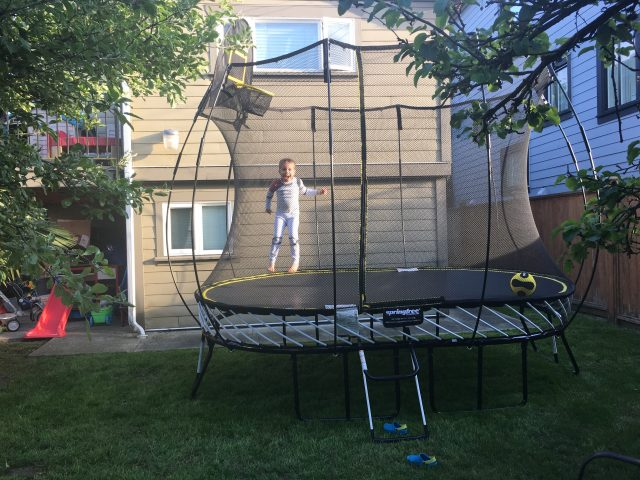 Jumping on a Trampoline is Great Exercise