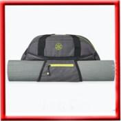 Gaiam Duffle Bag - Heather Grey / Lime Green