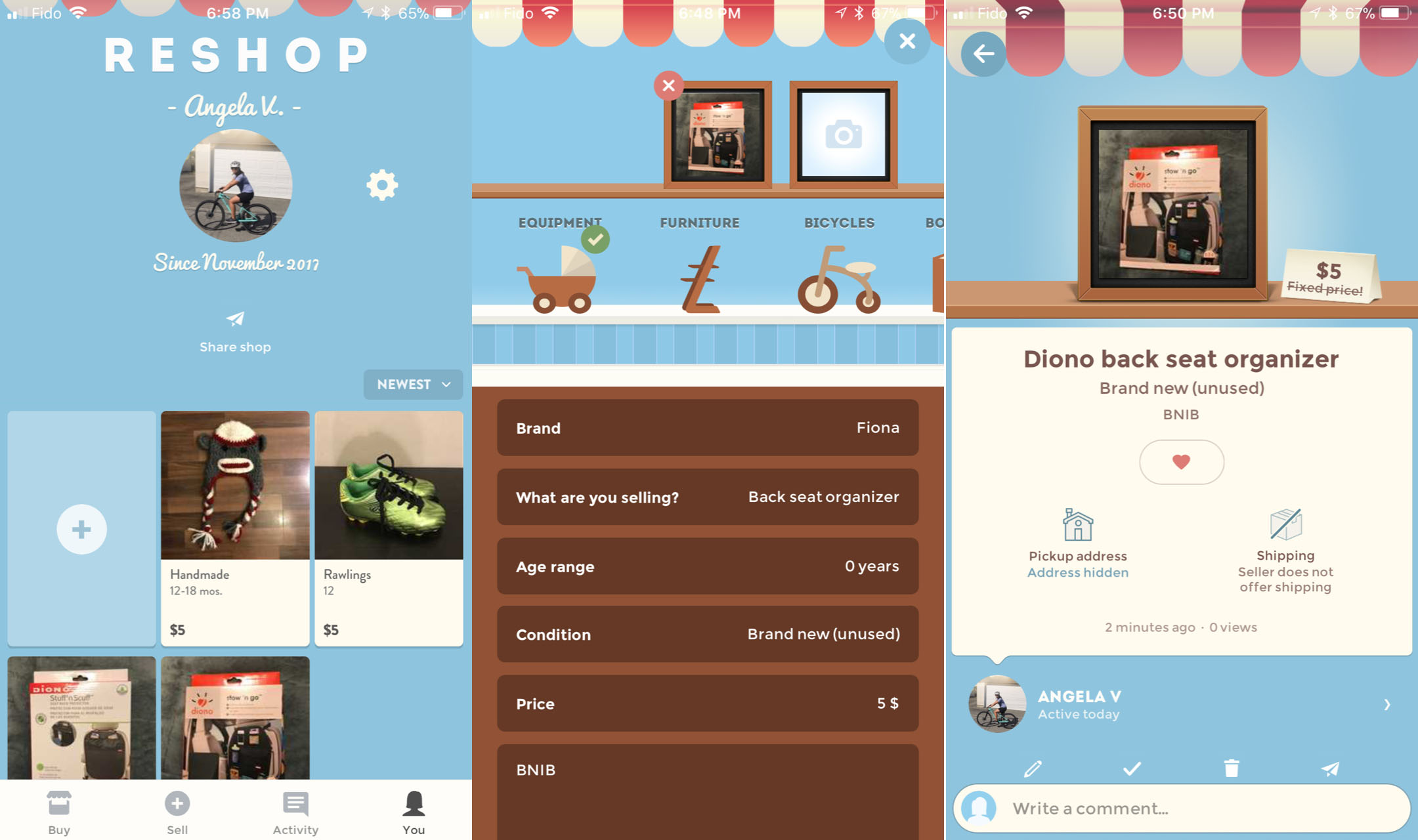 Easily sell your pre-loved kid stuff with Reshopper App
