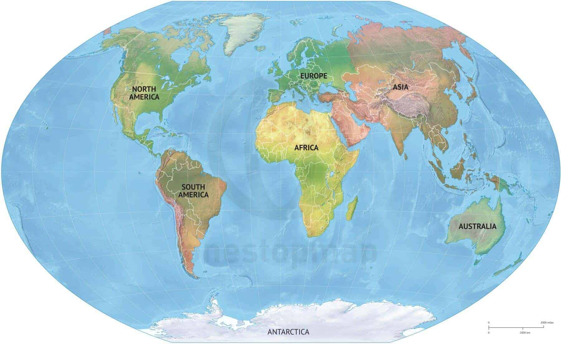 Map With Continents