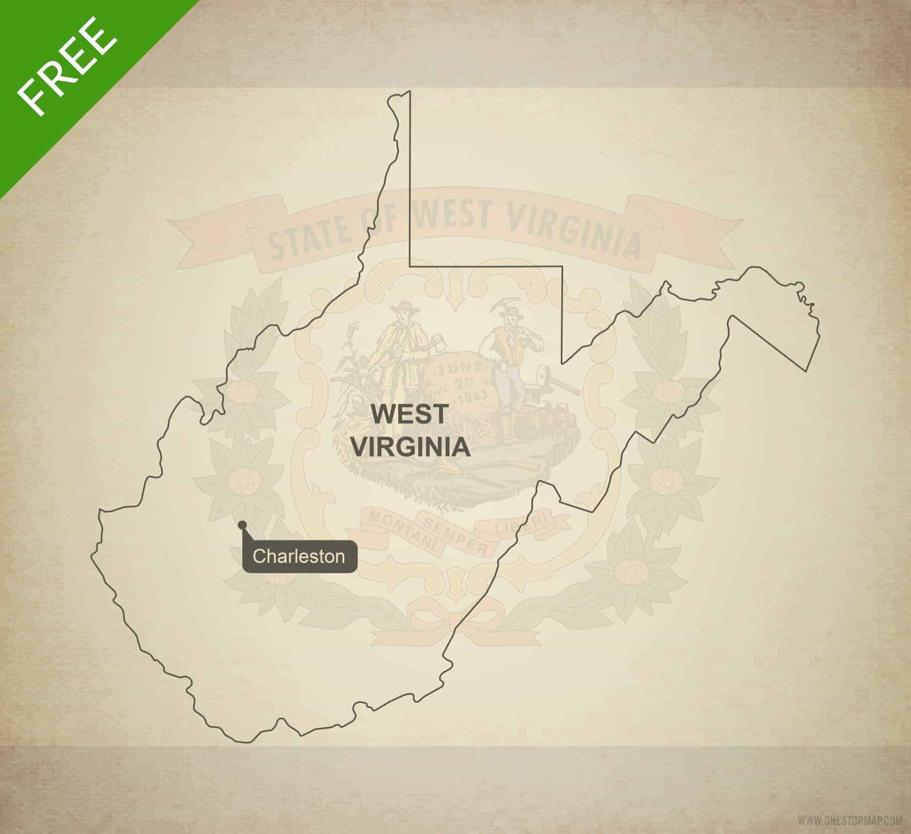 Free Vector Map Of West Virginia Outline