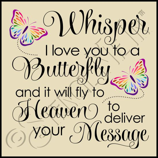 Download Whisper I Love You To A Butterfly Phrase Stencil   Stencil ...