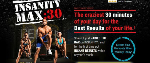 the infomercial image of Insanity Max:30