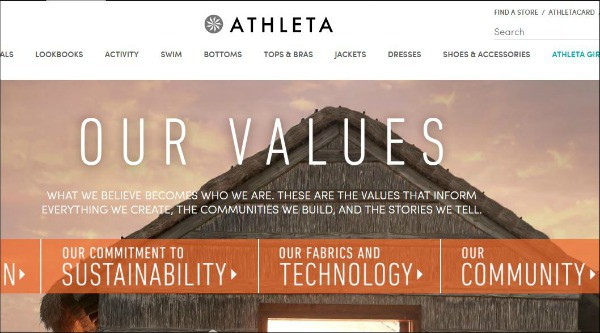 Athleta is one of the top fitness apparel sites for women