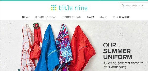 Title Nine is one of the top fitness apparel sites for women