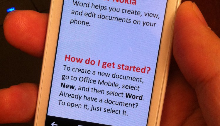 Microsoft Word for Nokia